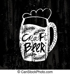 Hand Drawn Craft Beer Template