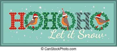 Hand drawn cute birds Christmas flat color vector