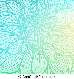 Hand drawn Dahlia flower - Background with hand drawn Dahlia...