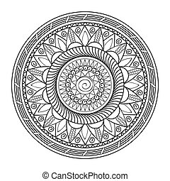 mandala - Hand drawn decorated mandala. Zentangle style....