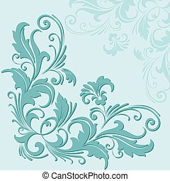 Hand drawn decorative vector floral elements for design. Page decoration element.