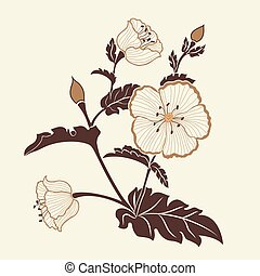 Hand drawn decorative vector floral elements for design. Page decoration element.