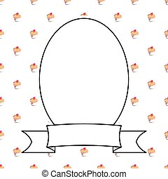 Hand drawn decorative vector frame on sweet cake background