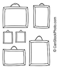 Hand drawn decorative vector frames isolated on white...