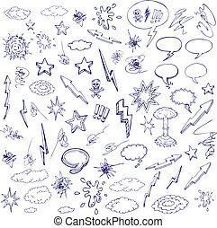 hand drawn doodle - hand drawn graffiti and cartoon doodles