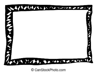 Hand drawn doodle frame
