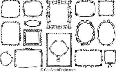 Hand-drawn doodle frames