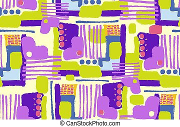 Hand drawn doodle pattern seamless. Abstract modern trendy background. vector texture