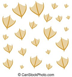 hand drawn duck steps pattern on white background. Vector illustration