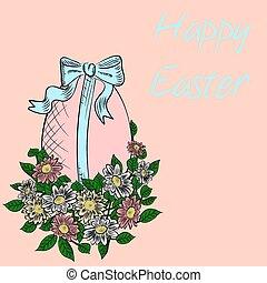 Hand-drawn Easter egg