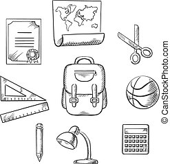 Hand drawn education infographic elements
