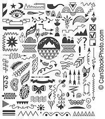 Hand drawn elements.