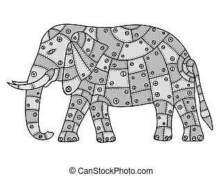 Hand Drawn elephant