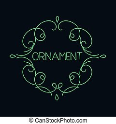 Hand drawn emblem abstract template Elegant linear logo...