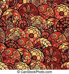 hand drawn ethnic seamless pattern