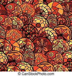 hand drawn ethnic seamless pattern
