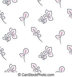 Hand drawn eucalyptus seamless pattern. - Hand drawn...