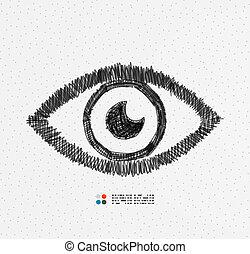 Hand drawn eye