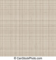 Hand drawn fabric textile seamless pattern. Burlap hessian fibre textured in brown, gray, ecru neutral tones. All over print for home decor, fashion, zakka stationery, wallpaper. Vector swatch repeat.
