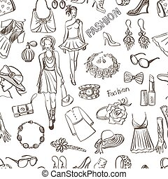 Hand drawn Fashion pattern