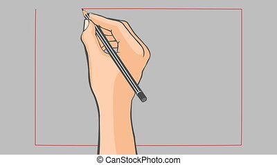 Hand drawn flag of China animation - Hand drawn chinese flag...
