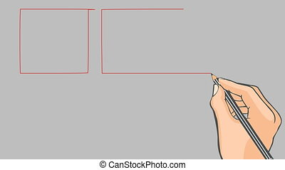 Hand drawn flag of Denmark - Hand drawn danish flag on a...