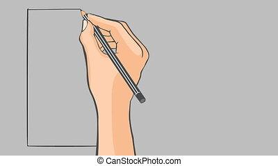 Hand drawn flag of Ireland