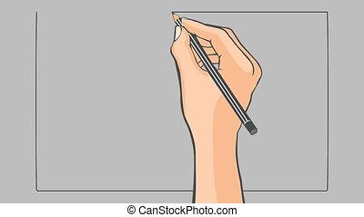 Hand drawn flag of Japan animation - Hand drawn japanese...