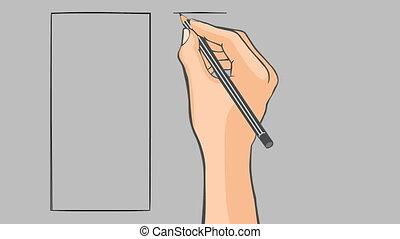 Hand drawn flag of Peru animation - Hand drawn peruvian flag...