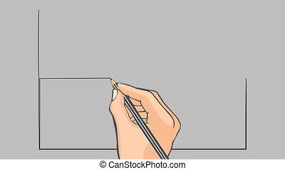 Hand drawn flag of Singapore - Hand drawn singapore flag on...