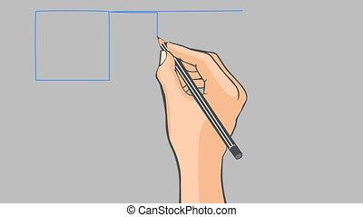Hand drawn flag of Sweden - Hand drawn swedish flag on a...