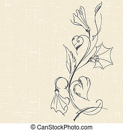 bindweed - hand drawn floral background with bindweed....