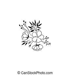 Hand drawn floral bouquet