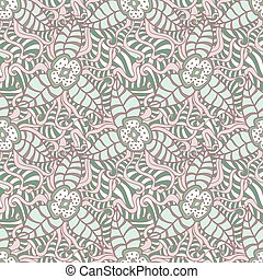 Hand drawn floral doodle seamless pattern