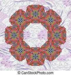 Hand drawn floral garland