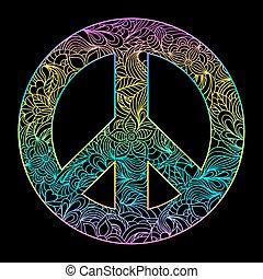 floral peace symbol