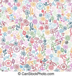 hand drawn floral seamless background
