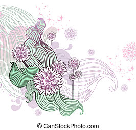 Hand drawn floral vector illustration