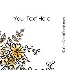 Hand Drawn Flowers Greeting