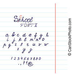 Hand drawn font in vector format