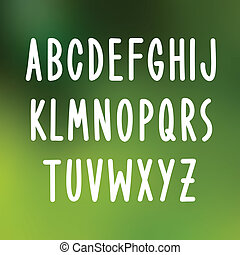 Hand drawn font type. Vector
