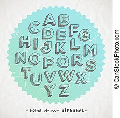 Hand drawn fonts