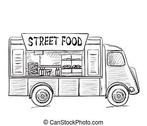 Hand Drawn Food Truck