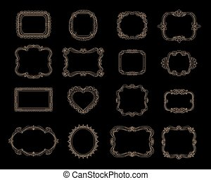 Hand-drawn frames for celebrations and wedding cards vector