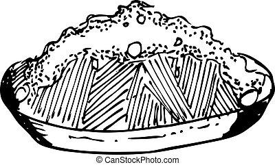 hand drawn fried rice