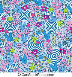 Hand drawn funny seamless pattern
