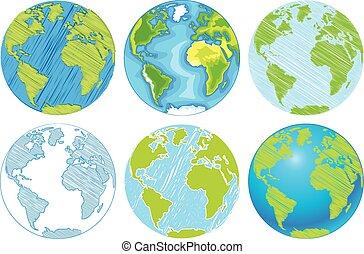 Hand drawn Globe