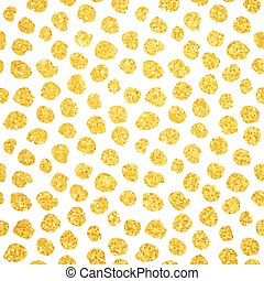 Hand Drawn Gold Dots Seamless Pattern