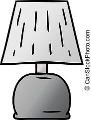 gradient cartoon doodle of a bed side lamp