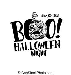 Halloween Boo label
